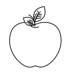 fresh apple fruit icon vector image