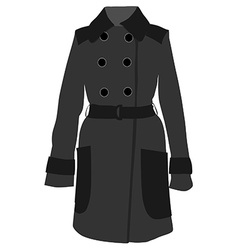 Grey coat vector
