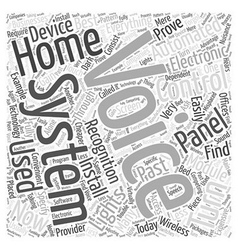 Home automation voice recognition word cloud vector