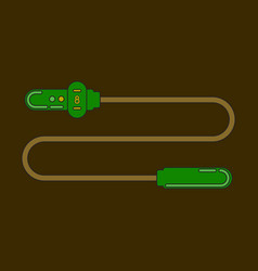 icon in flat design jump rope vector image