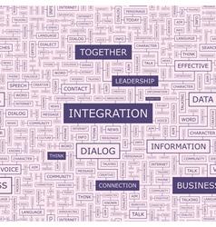 INTEGRATION vector image