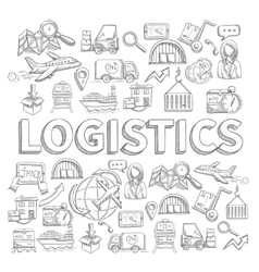 Logistic Sketch Concept vector image