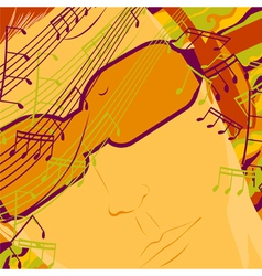 music on headphones vector image vector image
