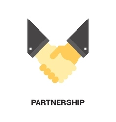 partnership icon concept vector image vector image