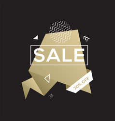 sale golden banner design template vector image vector image
