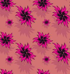 seamless background with red flowers vector image vector image