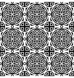 seamless geometric monochrome pattern vector image vector image