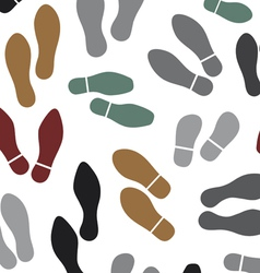 shoes silhouette seamless background vector image vector image