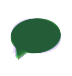 Speech bubble icon colorful icon shaked vector
