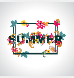 Summer background with typography design with vector