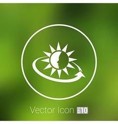 Sun Cream Containers icon sun tan vector image