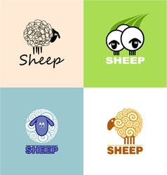 symbols sheep vector image