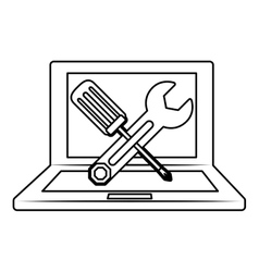 Technical service computers icon vector