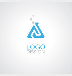 Triangle bottlelab sience logo vector
