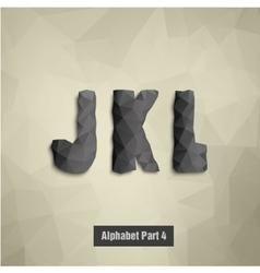 triangular dark alphabet J K L vector image