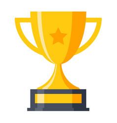 Trophy cup icon vector