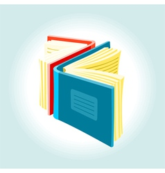 Two books vector image