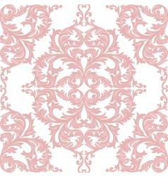 Vintage baroque rococo ornament pattern vector