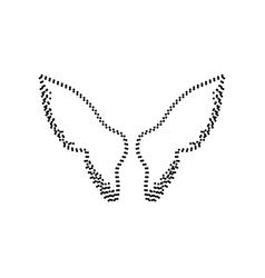 wings sign black dotted icon vector image