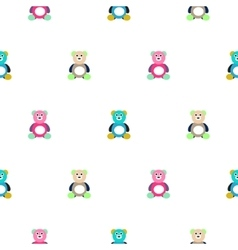 Bear motley kid pattern vector