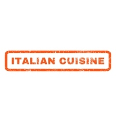 Italian Cuisine Rubber Stamp vector image