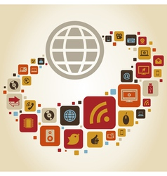 Global social media vector image