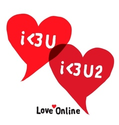 I love you social networking speech bubbles vector