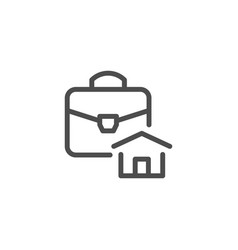 Real estate business line icon vector