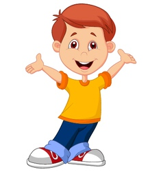 Cute boy cartoon vector