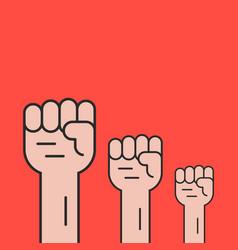 hands up like revolution protest vector image