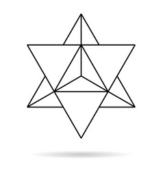 Sacred geometry merkaba thin line geometric vector