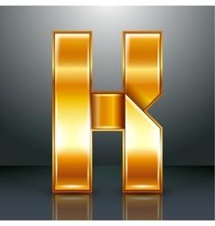 Letter metal gold ribbon - K vector image
