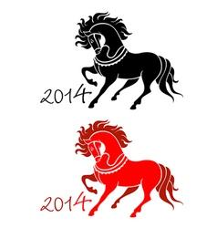 2014 Horse Lunar symbol vector image vector image
