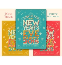New years eve party invitation vector