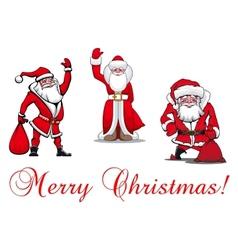 Cartoon Santa Clauses vector image