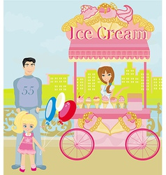 Ice cream mobile shop vector