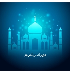 Ramadan greetings background ramadan kareem vector