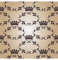 Seamless pattern with crowns vector