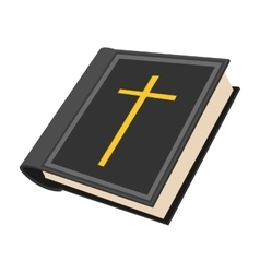 Bible cartoon icon vector