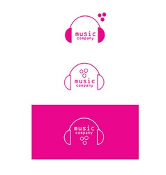 Music headphones logo icon vector