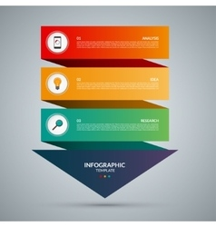 Infographic concept template with 3 steps vector