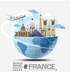 France landmark global travel and journey vector