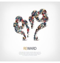 Reward people sign 3d vector