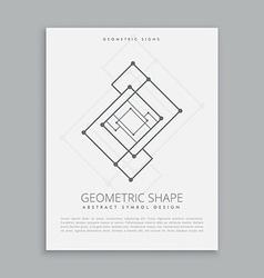 Abstract futuristic geometric shape vector