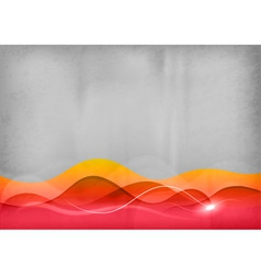 background red wave vector image vector image