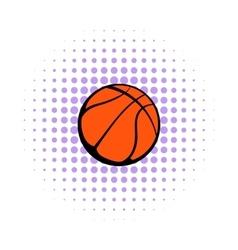 Basketball ball icon comics style vector image
