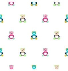 Bear motley kid pattern vector
