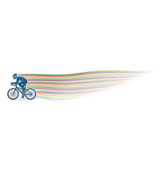 bicycle racing sport man biking vector image