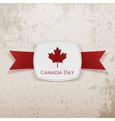 Canada Day festive Emblem with Ribbon vector image