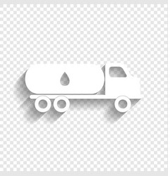 Car transports oil sign white icon with vector